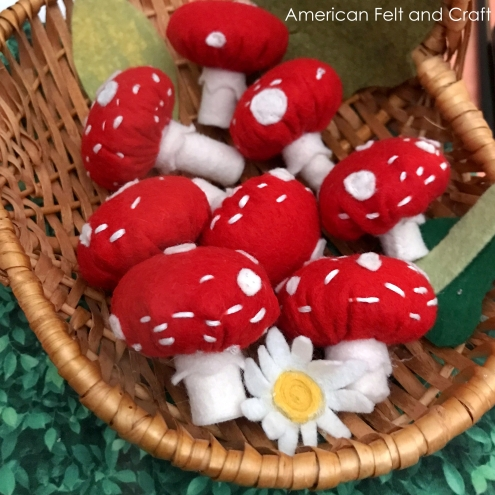 Felt Toadstool Mushrooms - Free Sewing Pattern